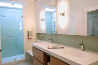 Master Bathroom sink mirrors and cabinet